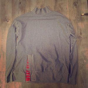 Zara black and white stripes mock neck sweatshirt